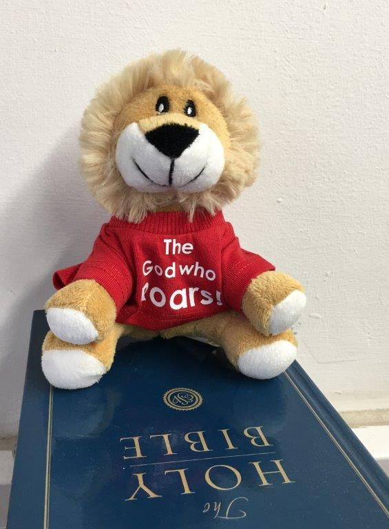 Soft toy lion for the year of 'The God who Speaks'
